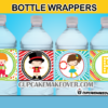 printable cute circus performers bottle labels