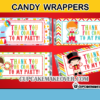 cute carnival candy labels circus performers