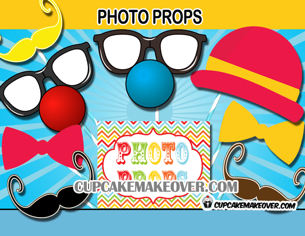 carnival photo props decorations
