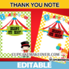 editable favor notes carnival birthday