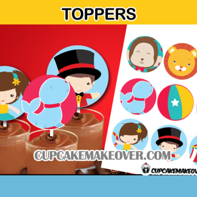 cute carnival toppers cake cupcake decoration