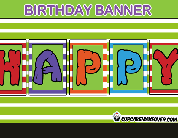 ninja turtles birthday banner