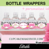 Spa Girl Birthday Water Bottle Labels