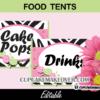 zebra spa party editable food labels