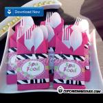 kids spa day napkin rings birthday party
