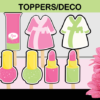 girl spa stickers tags toppers