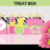 spa party treat box birthday favor