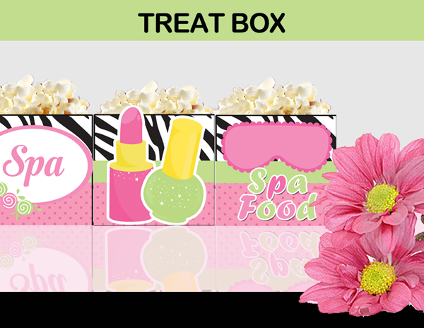 spa party treat box birthday favor
