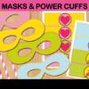printable superhero comic photo props masks cuffs