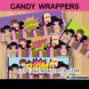 girl super hero comic book candy bar labels
