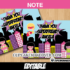 super girl comic thank you Note Card