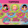 super girl hero birthday cupcake toppers circles