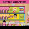 super hero comic girls bottle labels