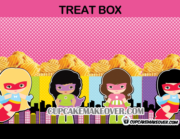 58-Comic-Superhero-Girl-Treat-Box