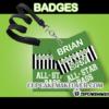 editable football soccer all star admission badge