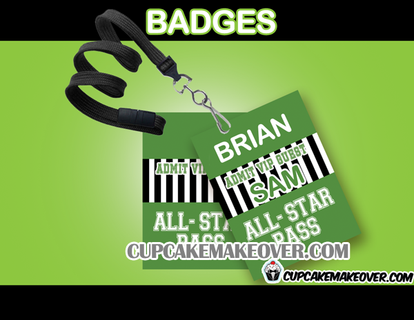 editable football soccer all star admission badge