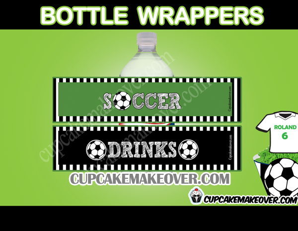 printable soccer team bottle labels