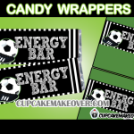 soccer party favors candy labels