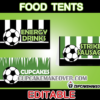 editable soccer place cards food labels
