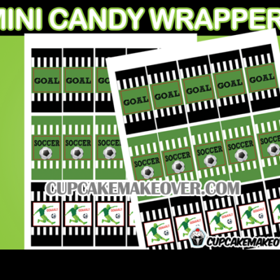 soccer party mini candy bar wrappers