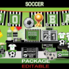 soccer printable party kit