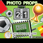 soccer party photo booth props