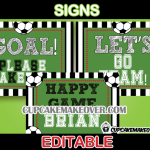 soccer birthday party signs