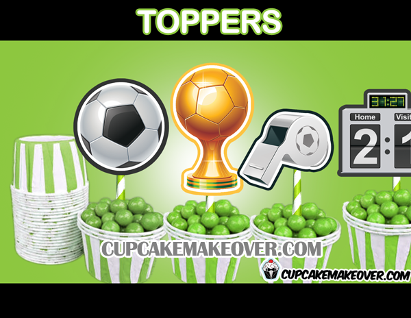 soccer toppers cake decor