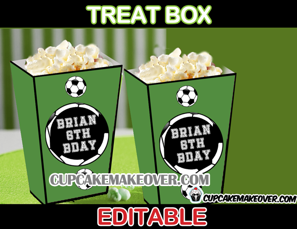 world cup soccer popcorn box treats