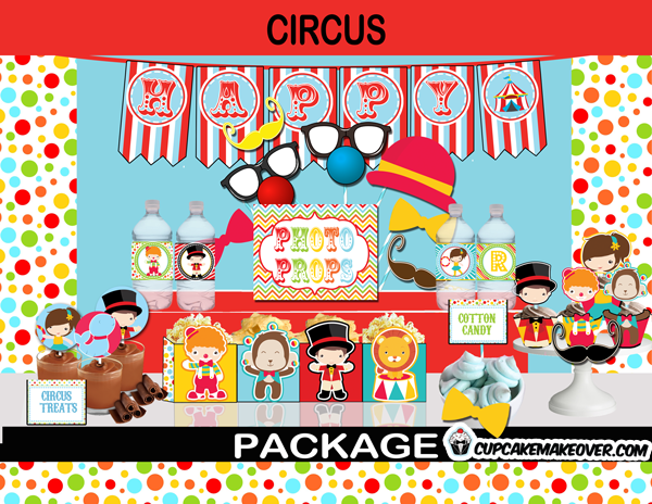 carnival birthday supplies package printables