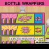 baby shower superhero girl bottle labels