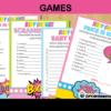comic super girl baby shower games