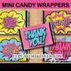 baby shower comic girl mini candy labels