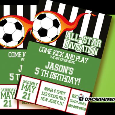 printable soccer birthday invite card