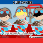 cute aviator cupcakes boys