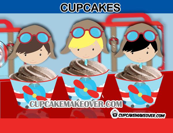 cute aviator cupcakes boys