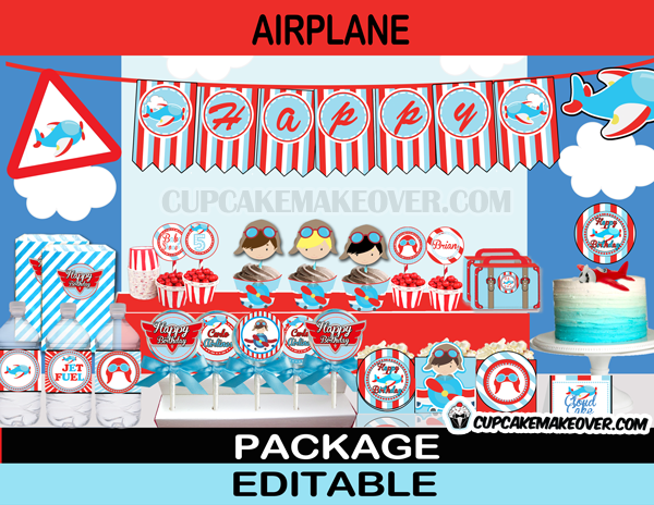 Aviator Boy Planes Party Package