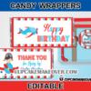 aeroplane candy bar labels
