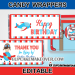 aeroplane candy bar labels