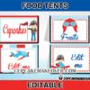 airplane pilot editable food labels