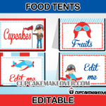 airplane pilot editable food labels