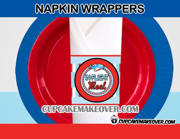 airplane napkin rings