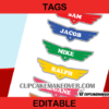editable pilot wings name badge airplane party