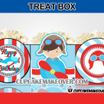 airplane birthday treats favor box