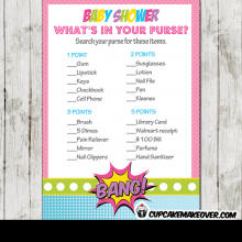 comic superhero girl baby shower games