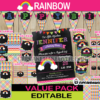 colorful birthday rainbow party supplies