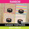 editable rainbow treat bag toppers