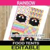 editable rainbow food tents