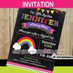 rainbow party invitation card