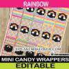 rainbow colors mini candy labels